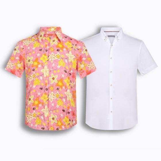 Bộ 2 áo sơ mi tay ngắn họa tiết Hàn quốc The Shirt Studio TD1
