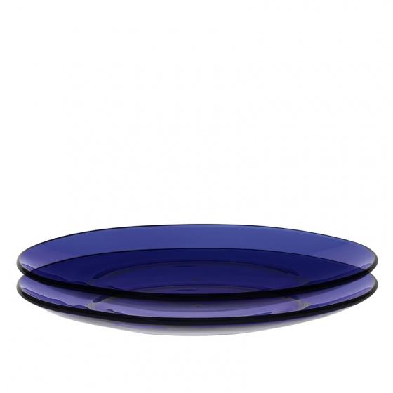 Bộ 2 dĩa bằng thủy tinh chịu lực Duralex Pháp Lys 23,5 cm
