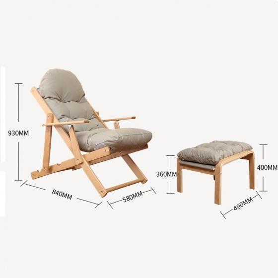 Bộ ghế lười gỗ sồi - Cam