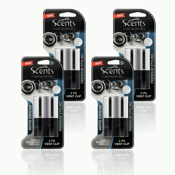 Nước hoa gài cửa gió Scents Luxe Vent-Silver-806711-4packs