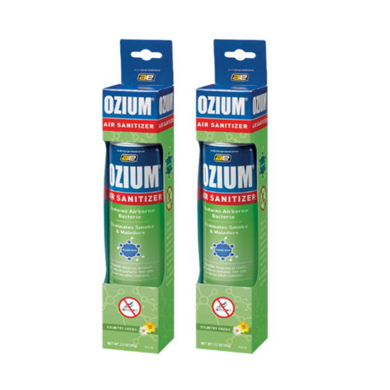 Bình xịt khử mùi Ozium Air Sanitizer Spray 3.5 oz (99g) Country Fresh/OZM-15-2packs