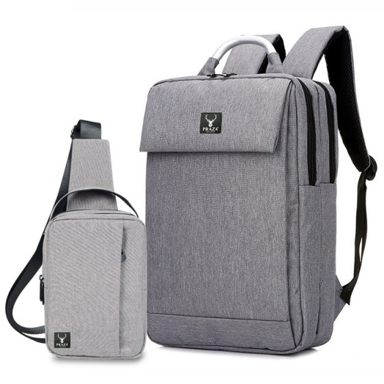 Bộ balo laptop quai nhôm và túi đeo cấp Praza - BL159DC098