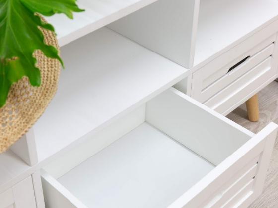 Tủ trang trí Mari gỗ cao su - Cozino