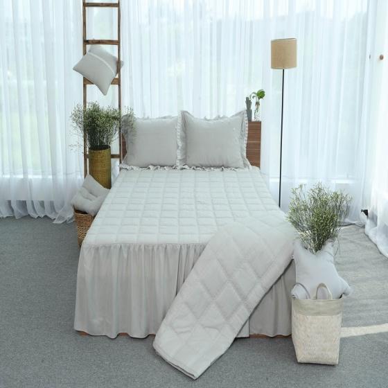 Chăn hè thu thiết kế cotton Grand - 150 x 205 - Xám nhạt