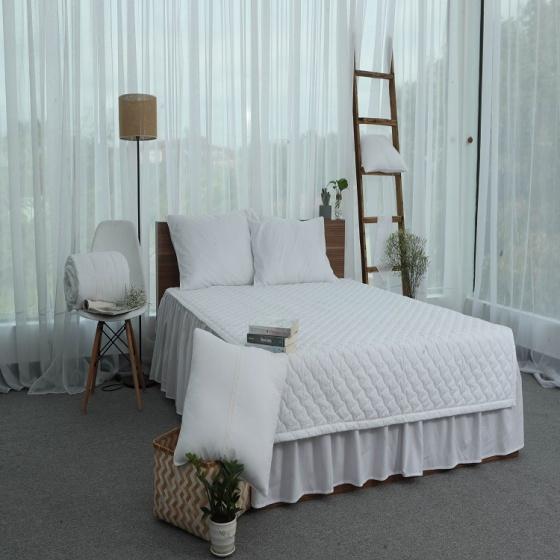 Chăn hè thu chần gòn cotton Grand - 160 x 210 - Trắng
