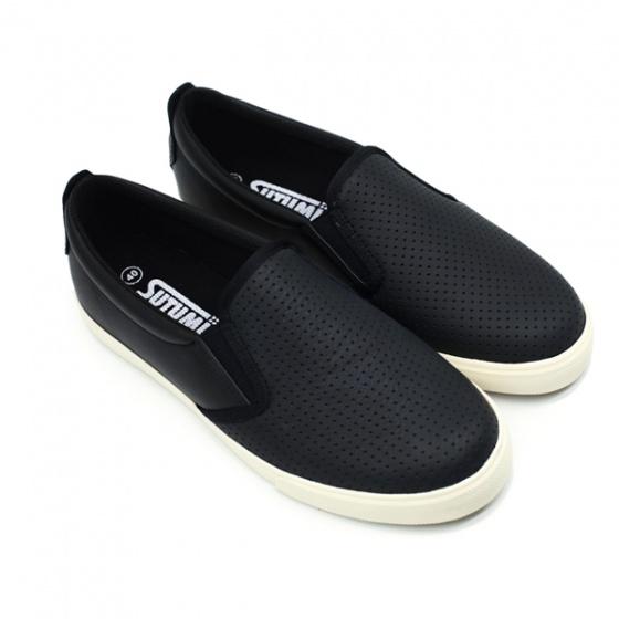 Giày slip on nam Sutumi SUM128L - ĐEN