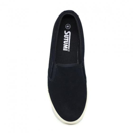 Giày slip on nam Sutumi SUM128S - SUEDE BLACK