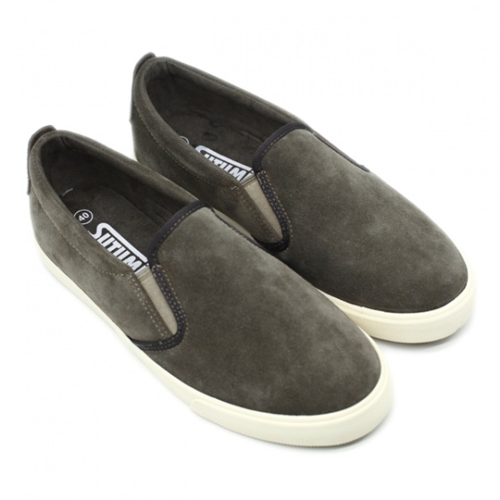 Giày slip on nam Sutumi SUM128S - SUEDE BROWN