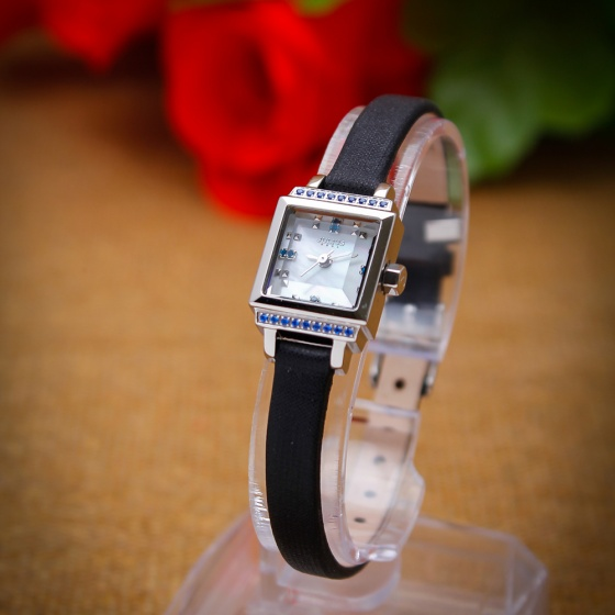Đồng hồ nữ Julius JA-880A JU1085 Hàn Quốc dây da (đen)