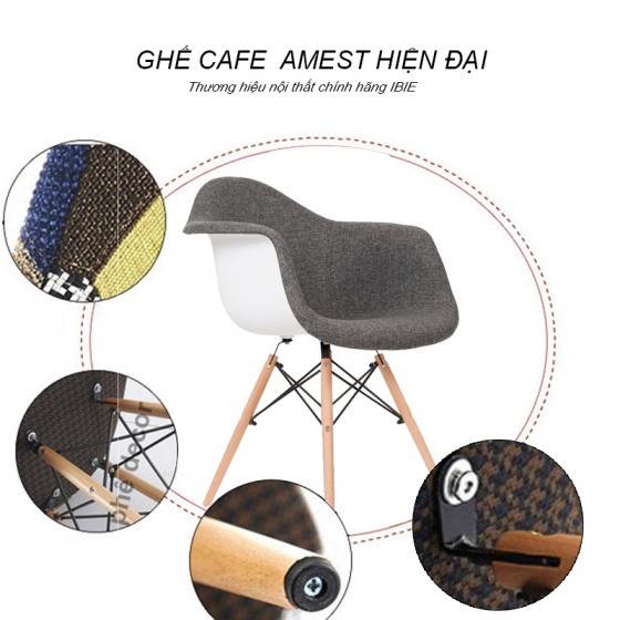 Ghế Armest bọc thổ cẩm chân gỗ màu 5