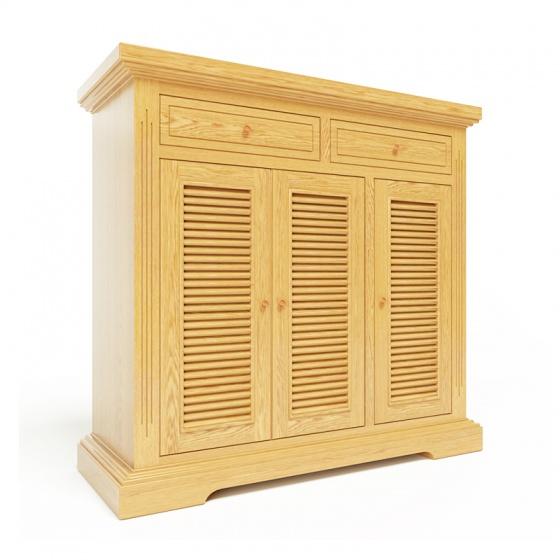 Tủ giầy Ibie Victoria 3 cánh lá sách gỗ sồi 1m2