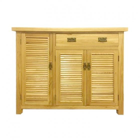 Tủ giầy 3 cánh lá sách IBH31 gỗ sồi 1m