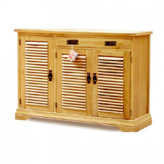 Tủ giầy 3 cánh lá sáchIBV31 gỗ sồi1m