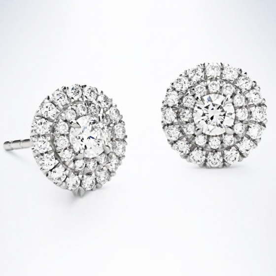 Bông tai nữ đá kim cương nhân tạo - BONG017