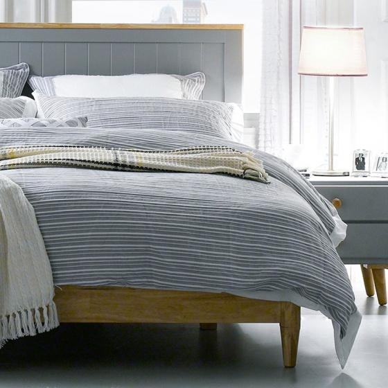 Giường đôi Rora - Grey 1m8