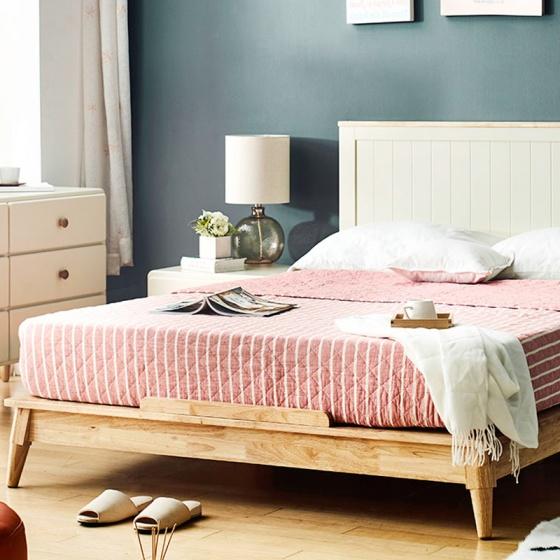 Giường đôi Rora - Ivory 1m4
