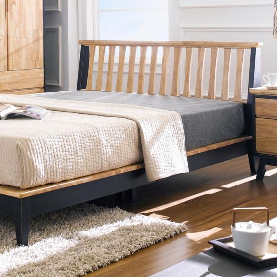 Giường đôi NB-Blue gỗ tự nhiên 1m6