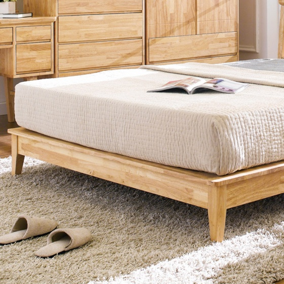 Giường đôi NB-Natural gỗ tự nhiên 1m4