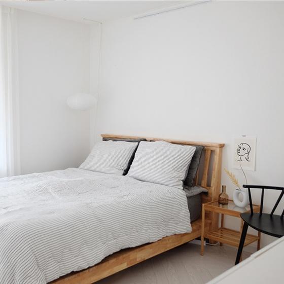 Giường đôi NB-Natural gỗ tự nhiên 2m