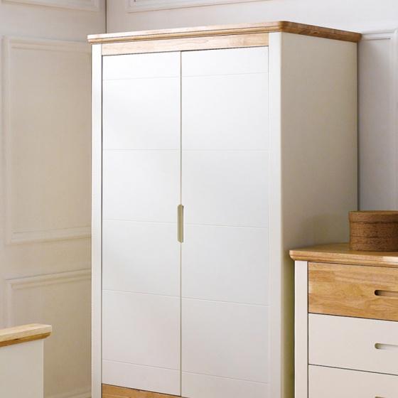 Tủ quần áo 2 cánh Vivid gỗ tự nhiên 1m