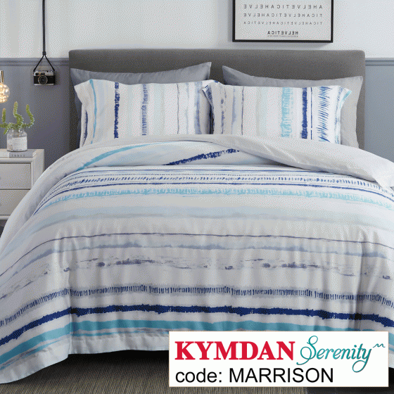 Drap Kymdan Serenity 180 x 200 cm (drap + áo gối nằm + vỏ mền) MARRISON
