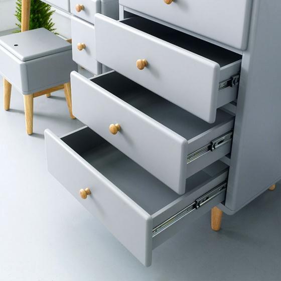 Tủ 5 ngăn kéo đứng Rora - Grey