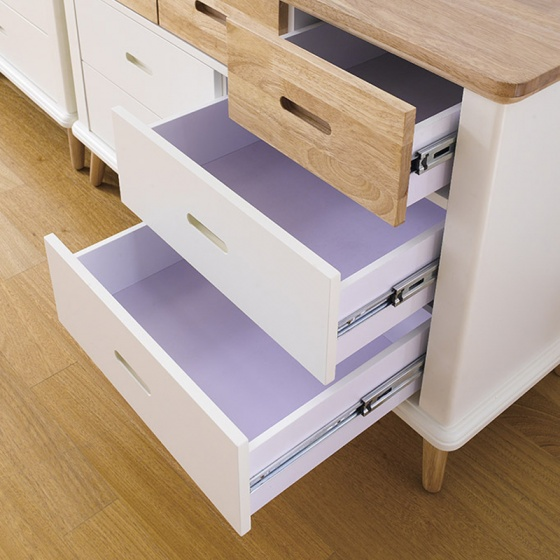 Tủ 3+4 ngăn kéo cao Vivid gỗ tự nhiên