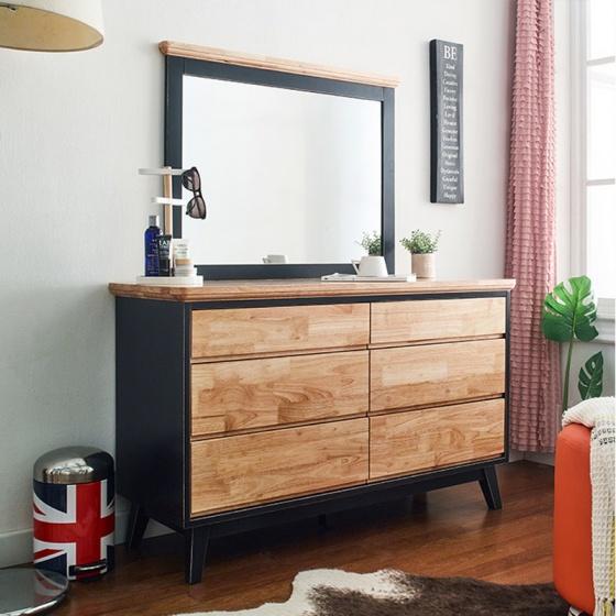 Tủ 6 ngăn kéo thấp NB-Blue gỗ tự nhiên