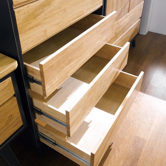 Tủ 6 ngăn kéo cao NB-Blue gỗ tự nhiên