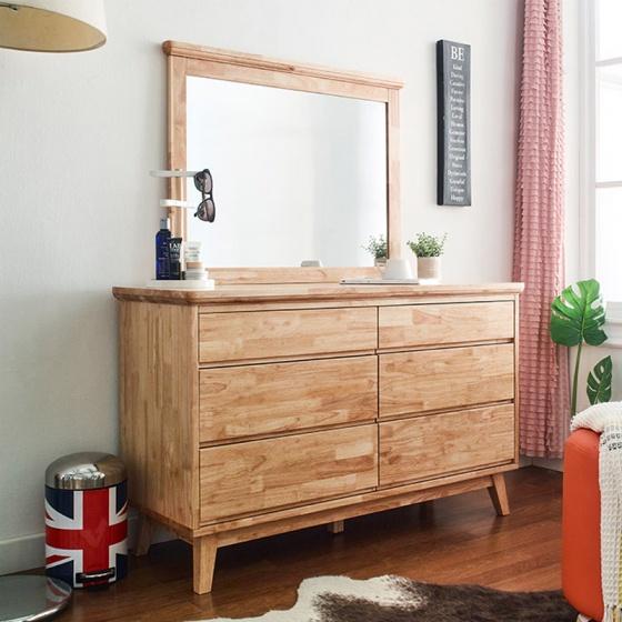 Tủ 6 ngăn kéo thấp NB-Natural gỗ tự nhiên