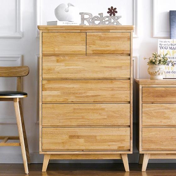 Tủ 6 ngăn kéo cao NB-Natural gỗ tự nhiên