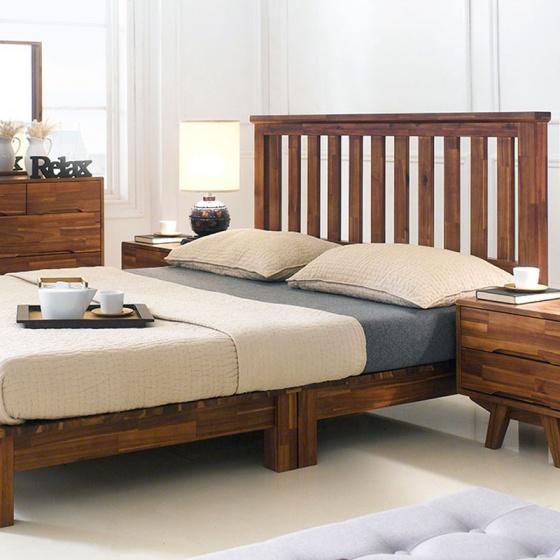 Giường đôi Coco gỗ tràm 1m4