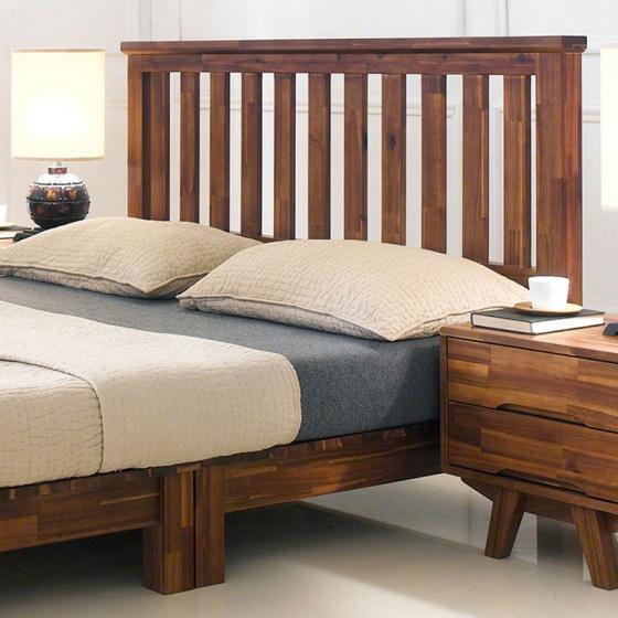 Giường đôi Coco gỗ tràm 1m6