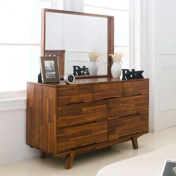 Tủ ngăn kéo 3+4 Coco gỗ tràm (không gương)