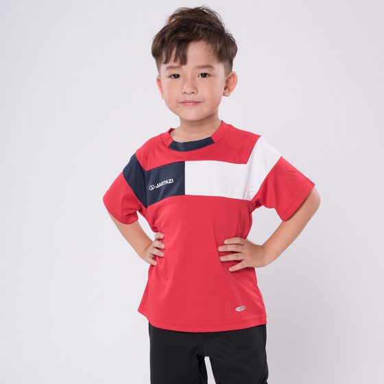 Áo thun trẻ em không cổ tay ngắn Jartazi (Warm up T-Shirt Cordoba) JK4040-011