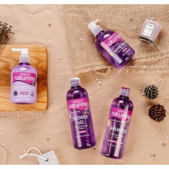 [Combo3osl] Bộ 3 gel tắm chiết xuất Olive & Rong Biển & Lavender Farmasi 375ml/chai