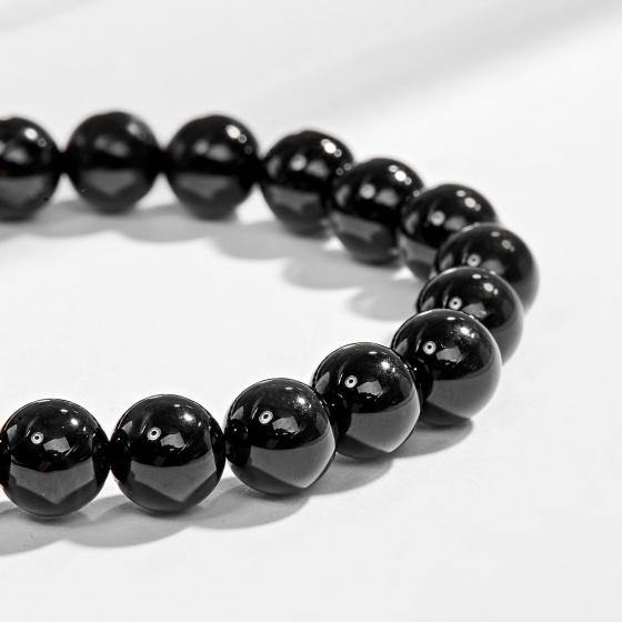 Vòng tay phong thủy đá thiên thạch charm tuổi tỵ bạc mạ vàng 24k Ngọc Quý Gemstones