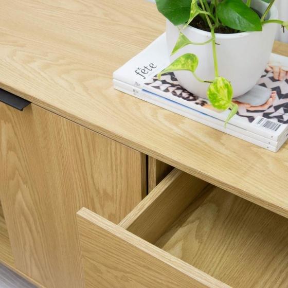 Tủ trưng bày Blake gỗ tự nhiên (khung sắt) - Cozino