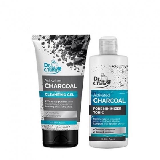 [Combo] bộ 2 sản phẩm gel rửa mặt & nước hoa hồng than hoạt tính farmasi 375ml