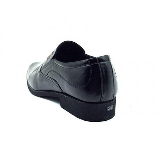 Giày lười nam công sở da bò nguyên tấm cao cấp N1621M (đen) Lucacy-Tặng ví da cao cấp