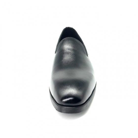 Giày lười tây nam  da bò nguyên tấm cao cấp N0102(đen) Lucacy-Tặng ví da cao cấp