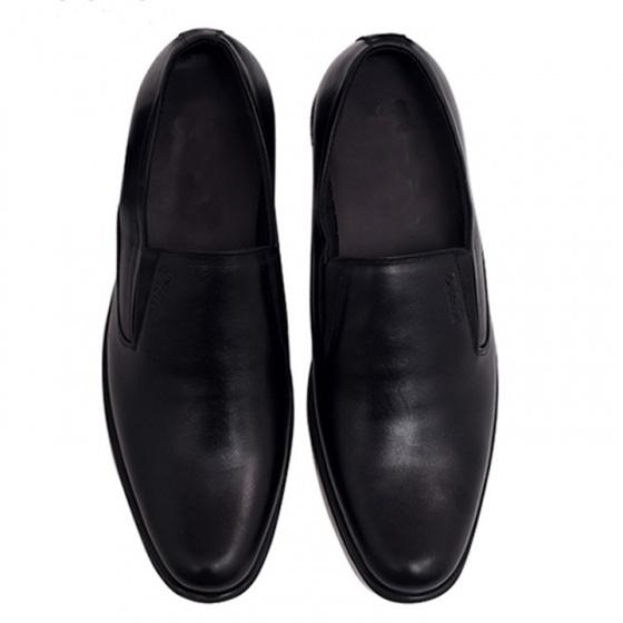 Giày lười nam công da bò cao cấp TH741M(đen) Lucacy