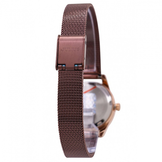Đồng hồ nữ Julius Hàn Quốc dây thép JA-1040 (nâu)