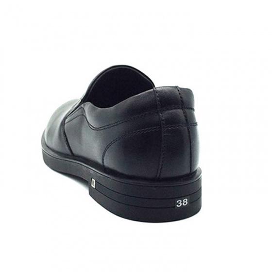 Giày lười tây nam da bò nguyên tấm L0170(đen) Lucacy
