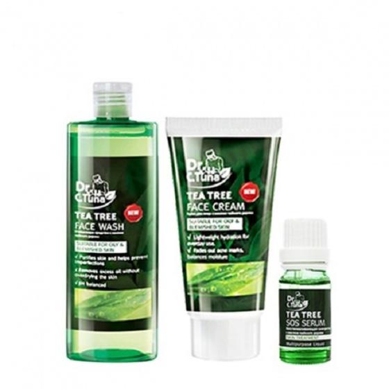 (Combo) bộ 3 sản phẩm Tea Tree - dành cho da mụn & da dầu Farmasi 285ml