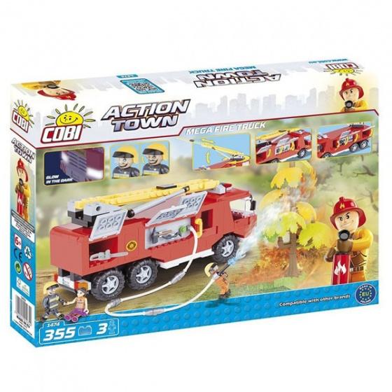 Đồ chơi lắp ráp xe cứu hỏa cao tầng Cobi - 1474