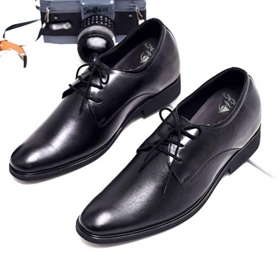 Giày công sở nam buộc dây tăng chiều cao 6cm da bò cao cấp Th28BD