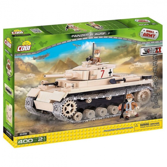 Đồ chơi lắp ráp xe tăng bánh xích Panzer 3 Cobi - 2451