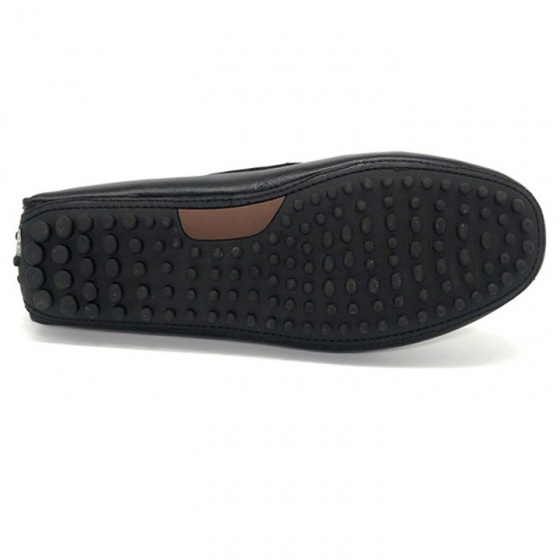 Giày mọi lười nam da thật cao cấp TL01(đen) Lucacy