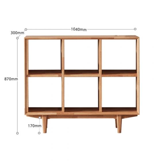 Tủ kệ sách 3x2 ngăn Calla gỗ cao su - Cozino